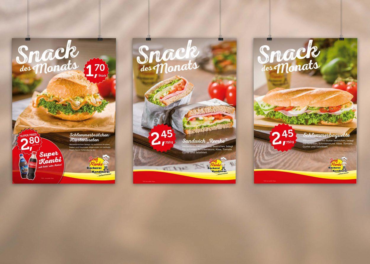 Bäckerei-Remke-Poster-Snacks