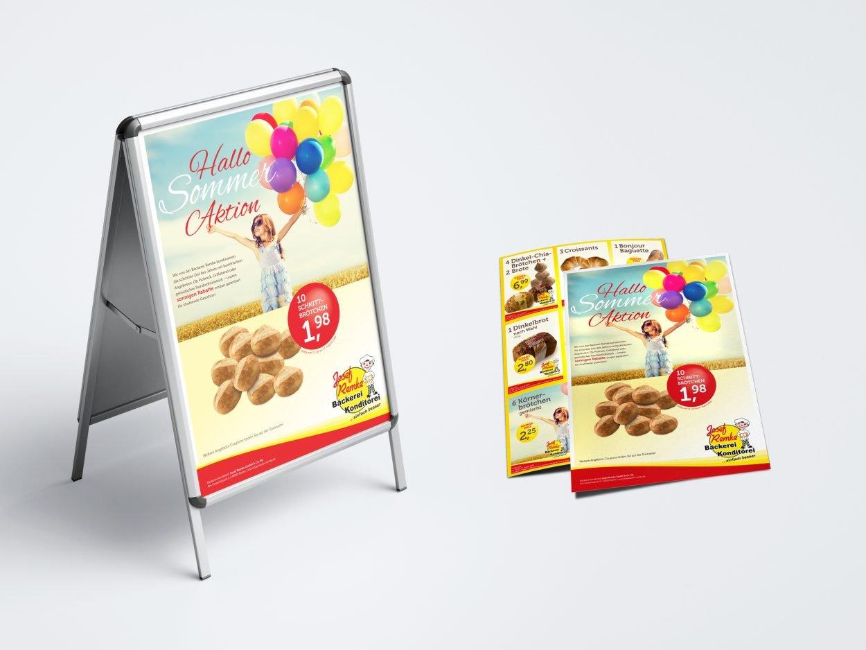 Bäckerei-Remke Sommeraktion-Poster+Flyer